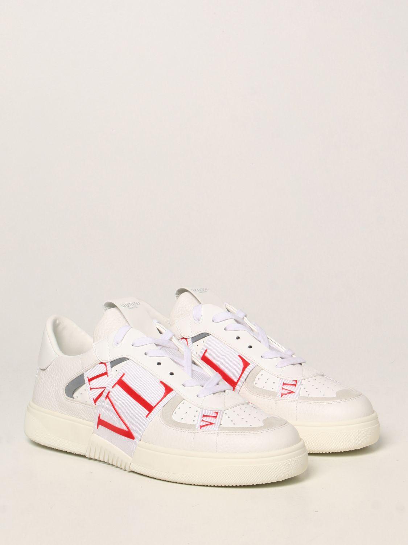 Sneakers Valentino Garavani: Sneakers Valentino Garavani in pelle con logo VLTN bianco 2
