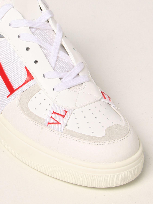 Sneakers Valentino Garavani: Sneakers Valentino Garavani in pelle con logo VLTN bianco 4
