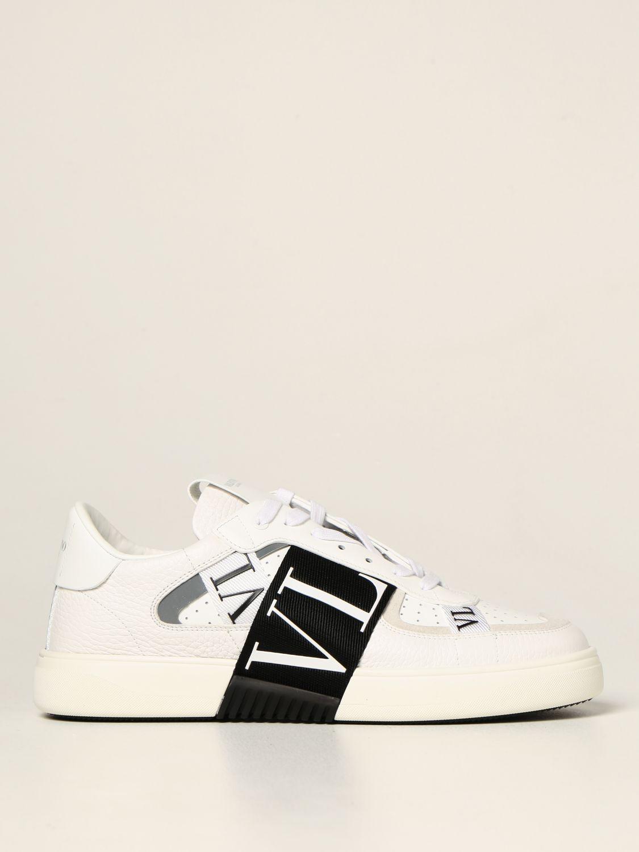Sneakers Valentino Garavani: Sneakers Valentino Garavani in pelle con logo VLTN bianco 1 1