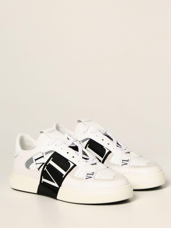 Sneakers Valentino Garavani: Sneakers Valentino Garavani in pelle con logo VLTN bianco 1 2