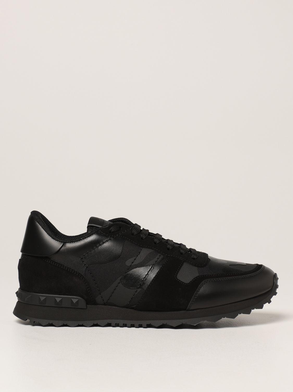 Sneakers Valentino Garavani: Sneakers Rock Runner Valentino Garavani camouflage nero 1