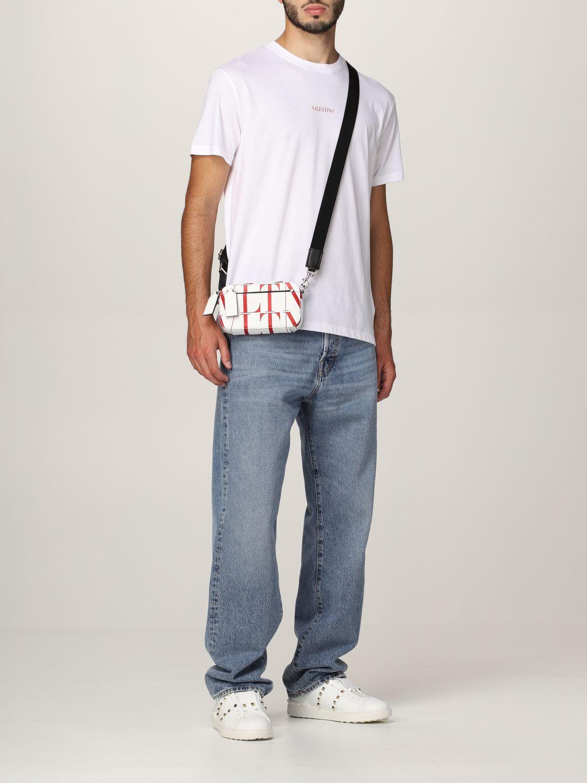 T-shirt Valentino: T-shirt Valentino in cotone con logo bianco 2