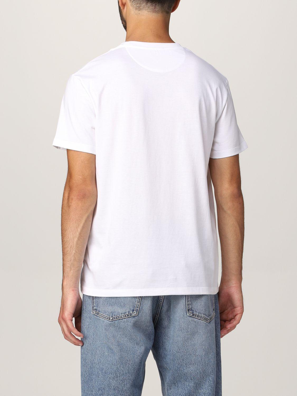 T-shirt Valentino: T-shirt Valentino in cotone con logo bianco 3