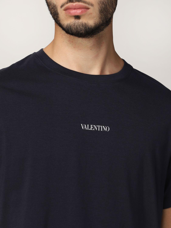 T-shirt Valentino: T-shirt Valentino in cotone con logo blue navy 5