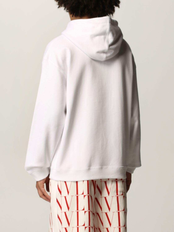 Felpa Valentino: Felpa Valentino in cotone con logo VLTN bianco 3