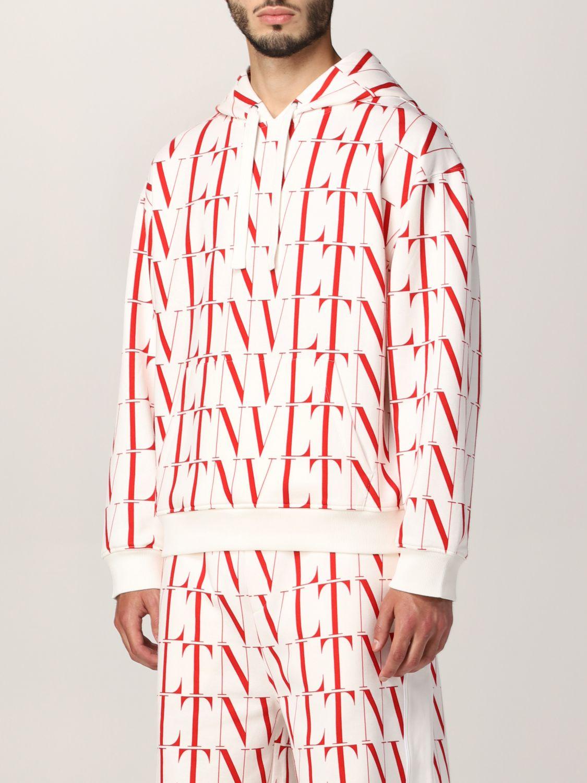 Felpa Valentino: Felpa Valentino in cotone con logo VLTN bianco 4