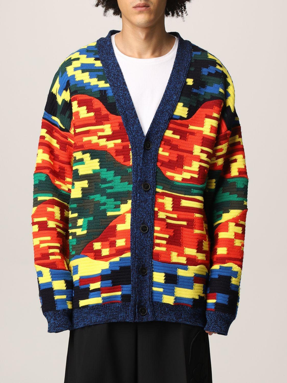 Cardigan Valentino: Cardigan Valentino in lana vergine e cotone multicolor fantasia 1