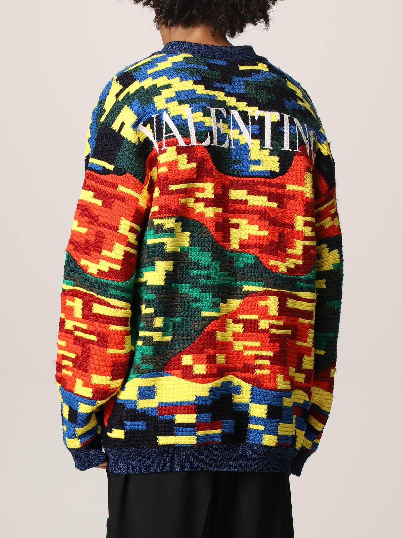 Cardigan Valentino: Cardigan Valentino in lana vergine e cotone multicolor fantasia 3