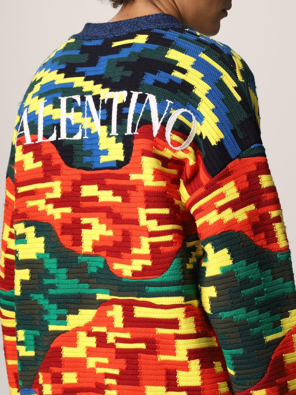 Cardigan Valentino: Cardigan Valentino in lana vergine e cotone multicolor fantasia 5