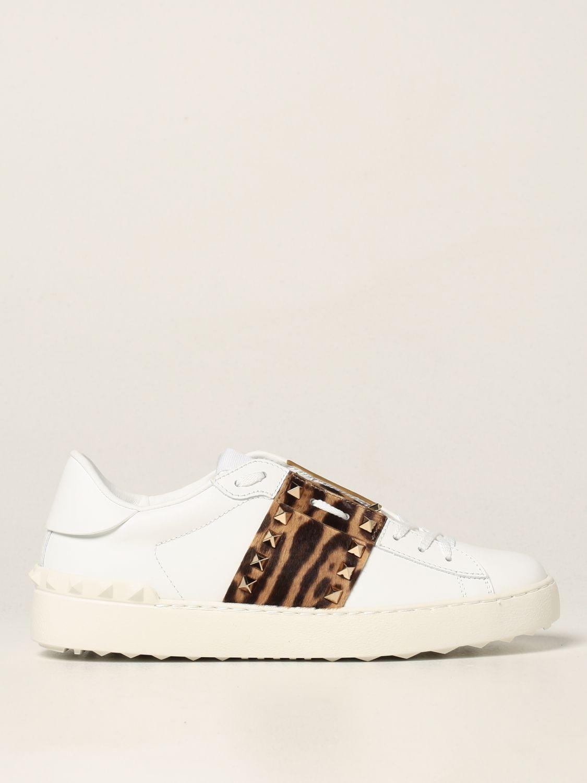 Sneakers Valentino Garavani: Sneakers Rockstud Untitled Valentino Garavani in pelle di vitello bianco 1