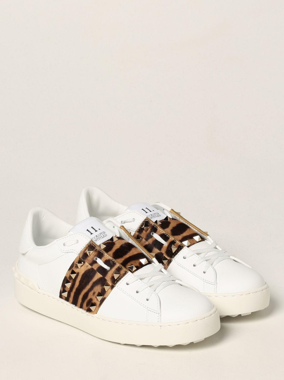 Sneakers Valentino Garavani: Sneakers Rockstud Untitled Valentino Garavani in pelle di vitello bianco 2