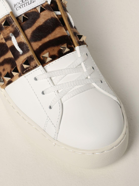 Sneakers Valentino Garavani: Sneakers Rockstud Untitled Valentino Garavani in pelle di vitello bianco 4