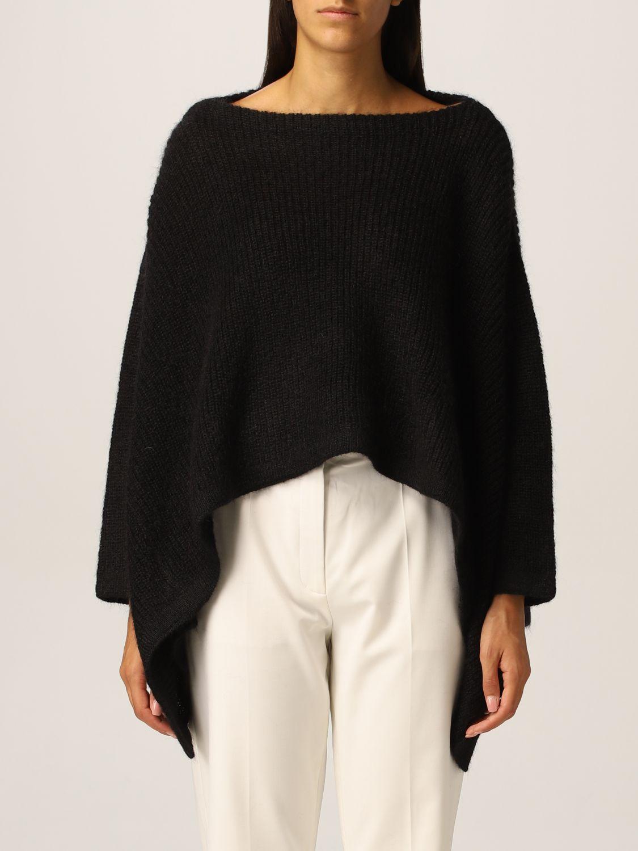 Maglia Valentino: Poncho Valentino in misto lana mohair nero 1