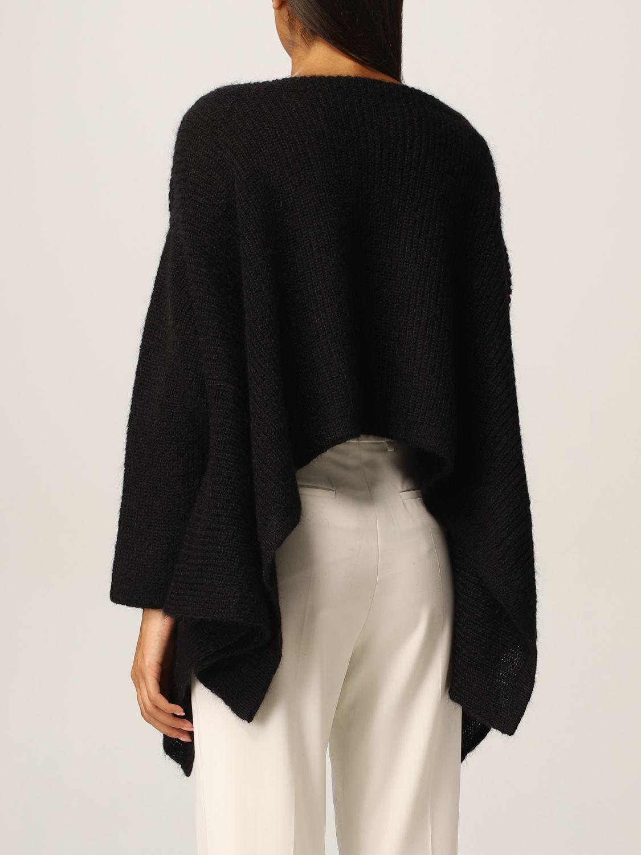 Maglia Valentino: Poncho Valentino in misto lana mohair nero 3