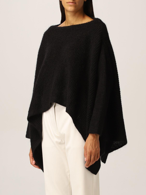 Maglia Valentino: Poncho Valentino in misto lana mohair nero 4