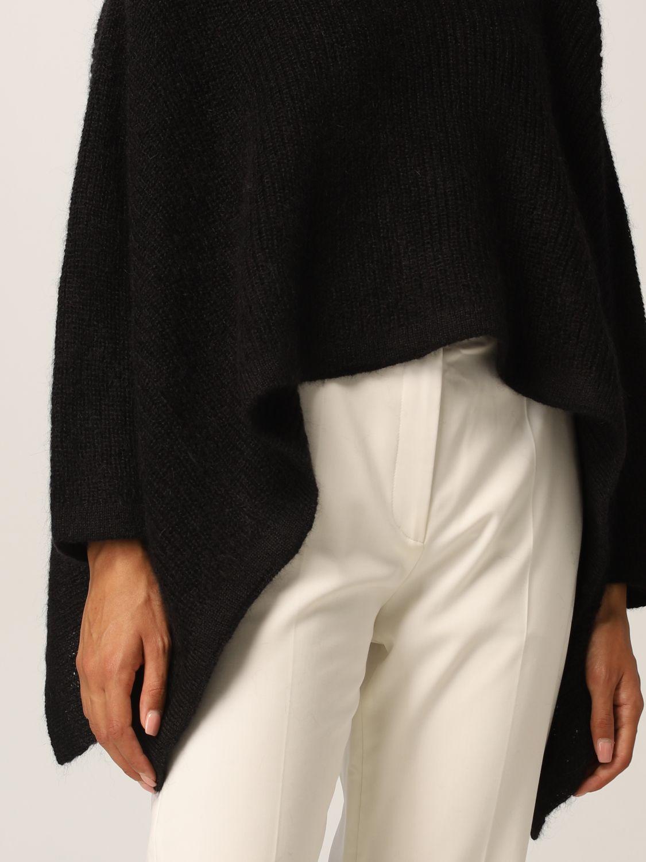 Maglia Valentino: Poncho Valentino in misto lana mohair nero 5