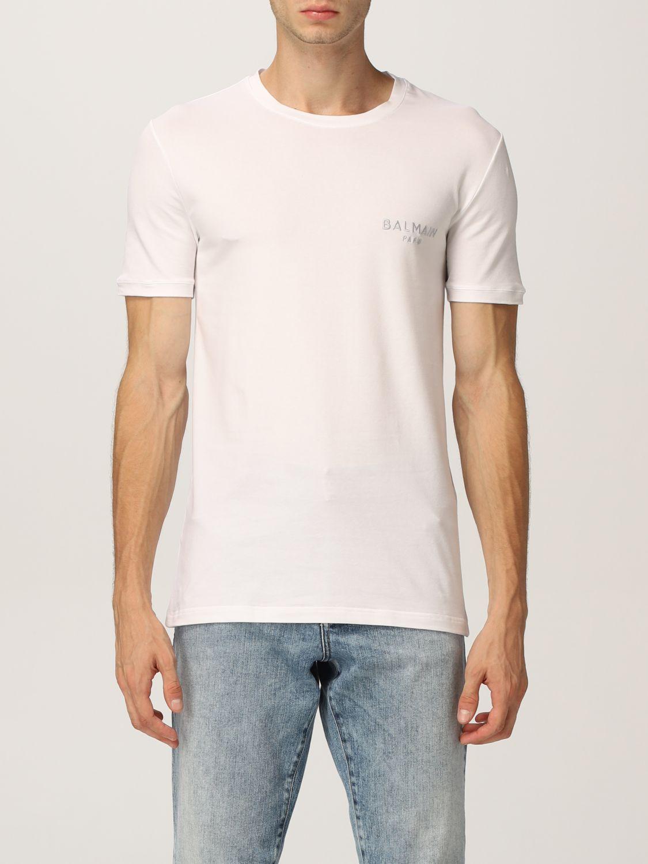 T-shirt Balmain: T-shirt men Balmain white 3