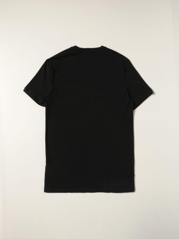 T-shirt Balmain: Mezza manica girocollo con logo metal nero 2
