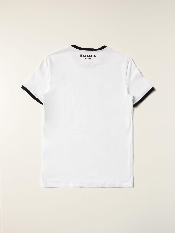 Intimo Balmain: Mezza manica girocollo con logo e contrasti bianco 4