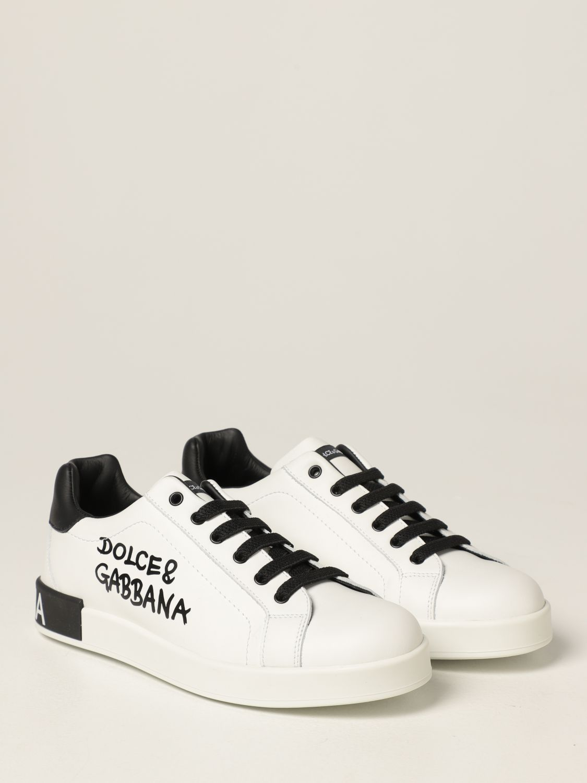 Scarpe Dolce & Gabbana: Sneakers Dolce & Gabbana in pelle bianco 2