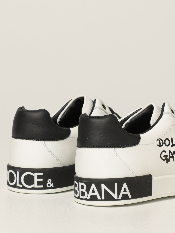 Scarpe Dolce & Gabbana: Sneakers Dolce & Gabbana in pelle bianco 3