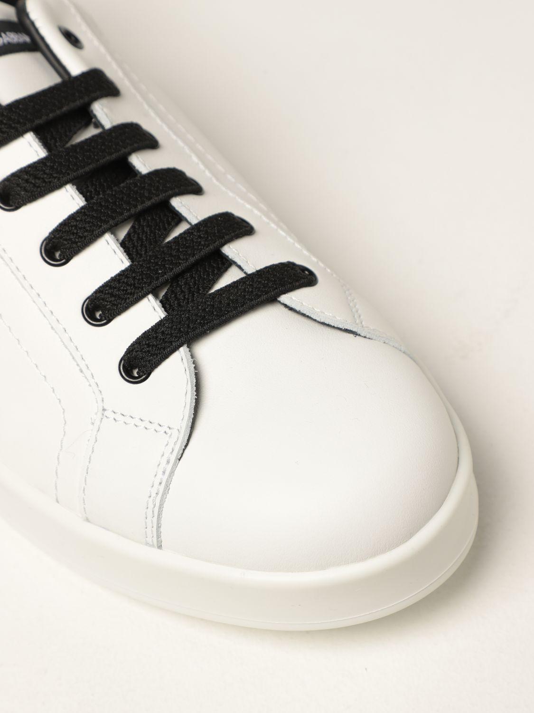 Scarpe Dolce & Gabbana: Sneakers Dolce & Gabbana in pelle bianco 4