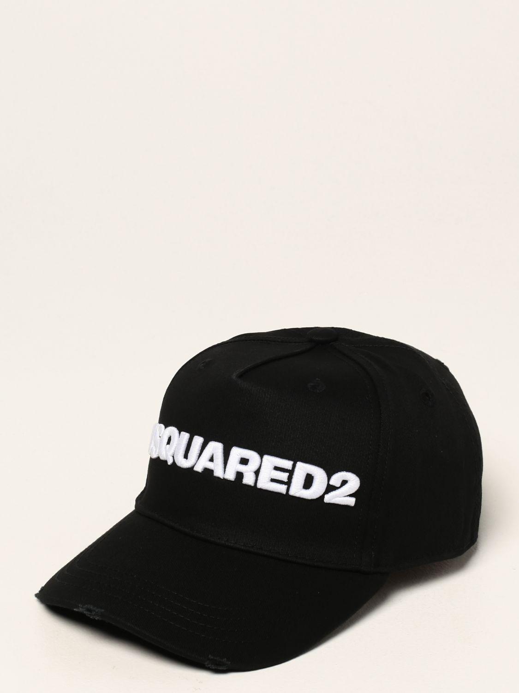 Cappello Dsquared2: Cappello Dsquared2 con logo nero 1