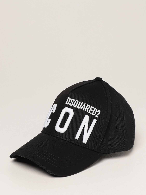 Cappello Dsquared2: Cappello da baseball Icon Dsquared2 nero 1