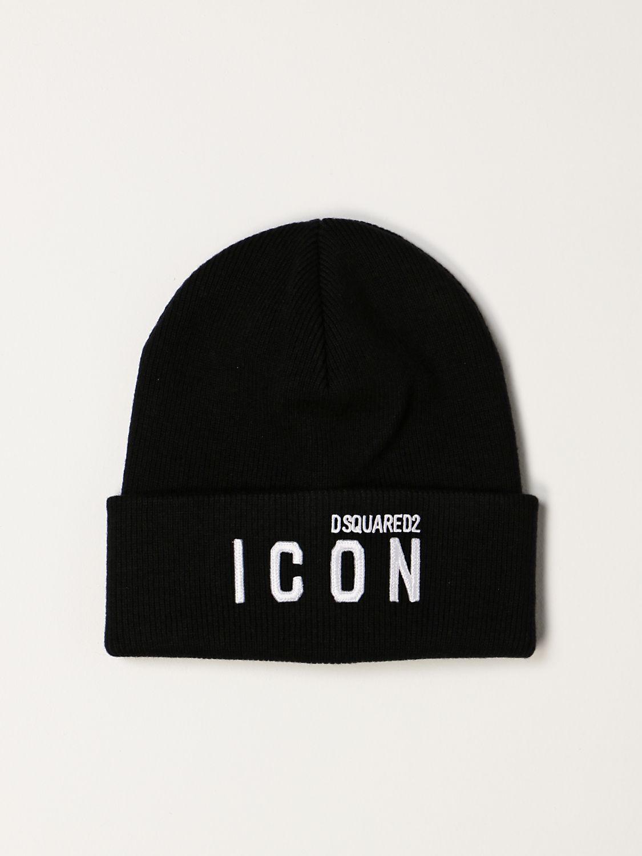 Cappello Dsquared2: Cappello a berretto Icon Dsquared2 nero 1