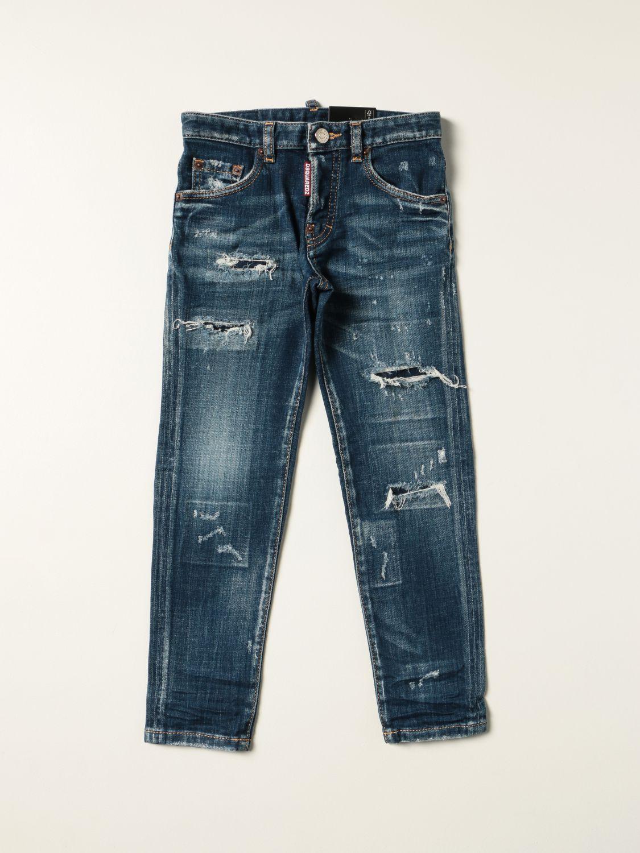 Jeans Dsquared2 Junior: Jeans a 5 tasche Dsquared2 Junior con rotture denim 1