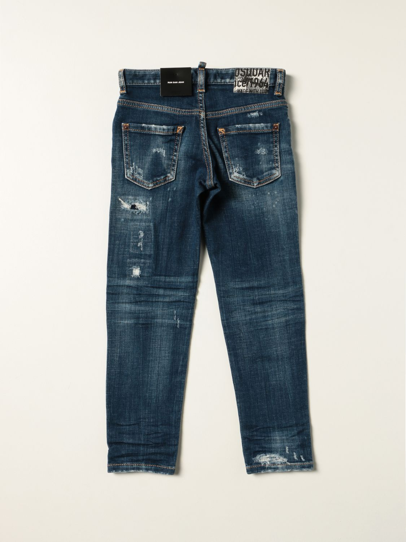 Jeans Dsquared2 Junior: Jeans a 5 tasche Dsquared2 Junior con rotture denim 2