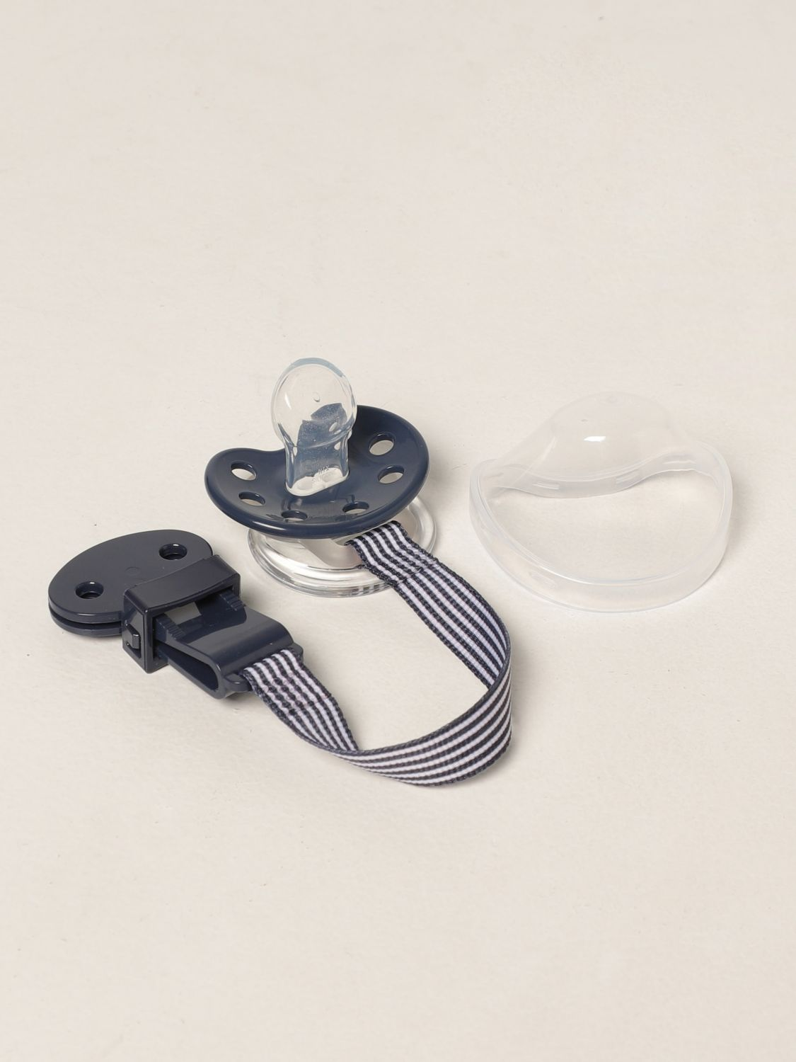 Pacifier Emporio Armani: Emporio Armani pacifier with logo blue 2