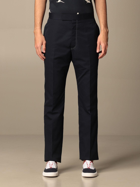 Pantalone Thom Browne: Pantalone Thom Browne in misto cotone grigio 1