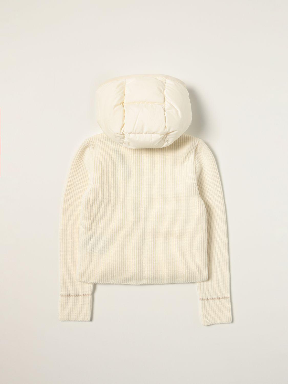 Giacca Moncler: Piumino Moncler bimateriale bianco 2