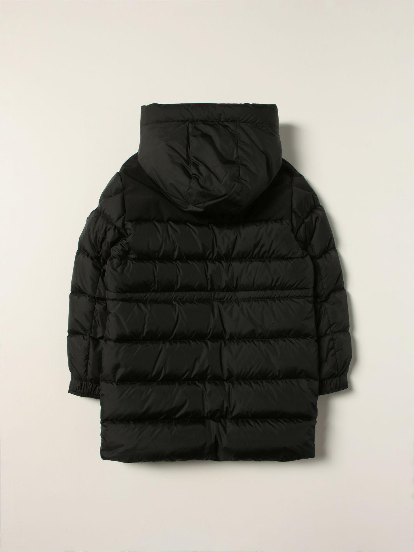 Giacca Moncler: Piumino lungo Moncler con cappuccio nero 2