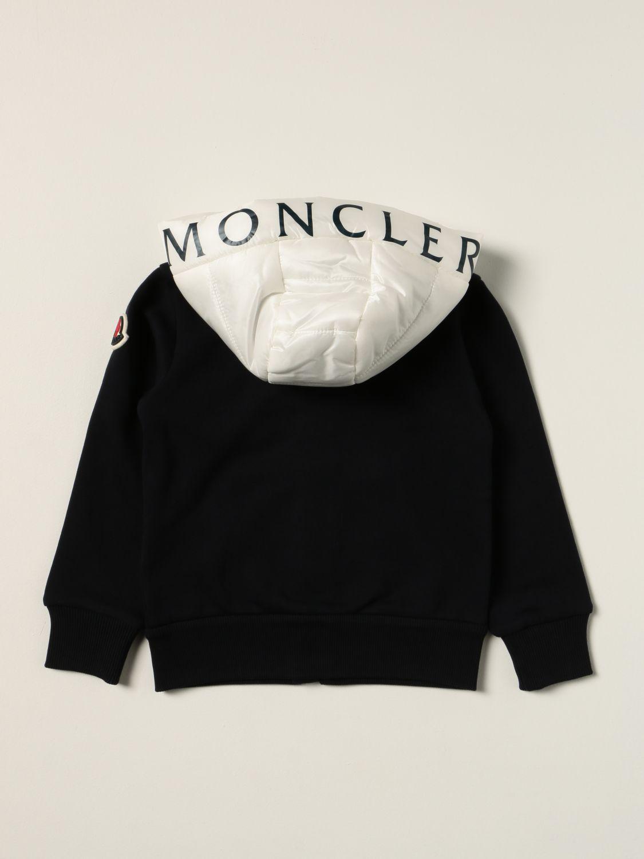 Maglia Moncler: Felpa Moncler con cappuccio in nylon blue 2