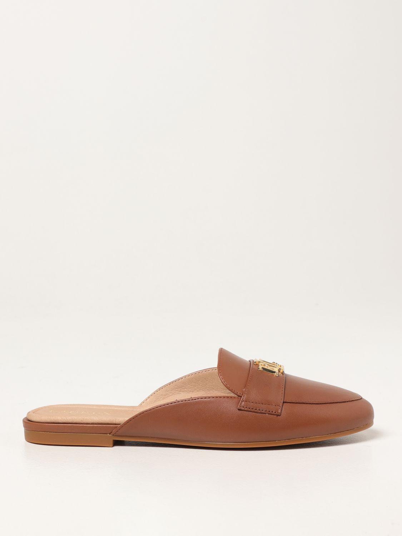 Flat shoes Lauren Ralph Lauren: Lauren Ralph Lauren flat mules in leather leather 1