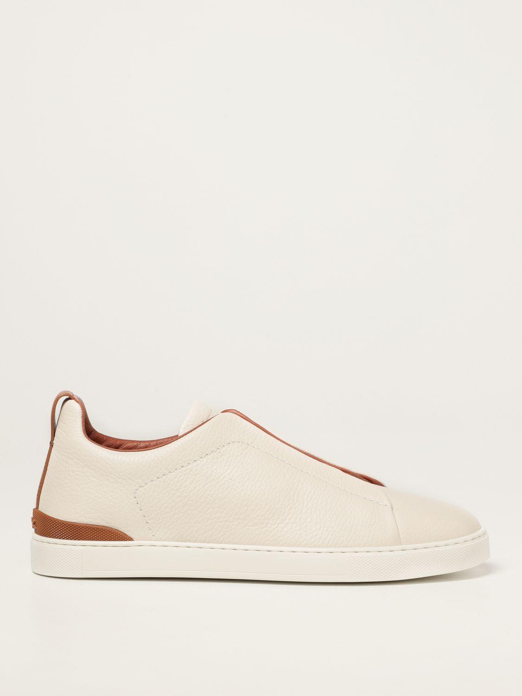Zapatillas Ermenegildo Zegna: Zapatos hombre Ermenegildo Zegna blanco 1