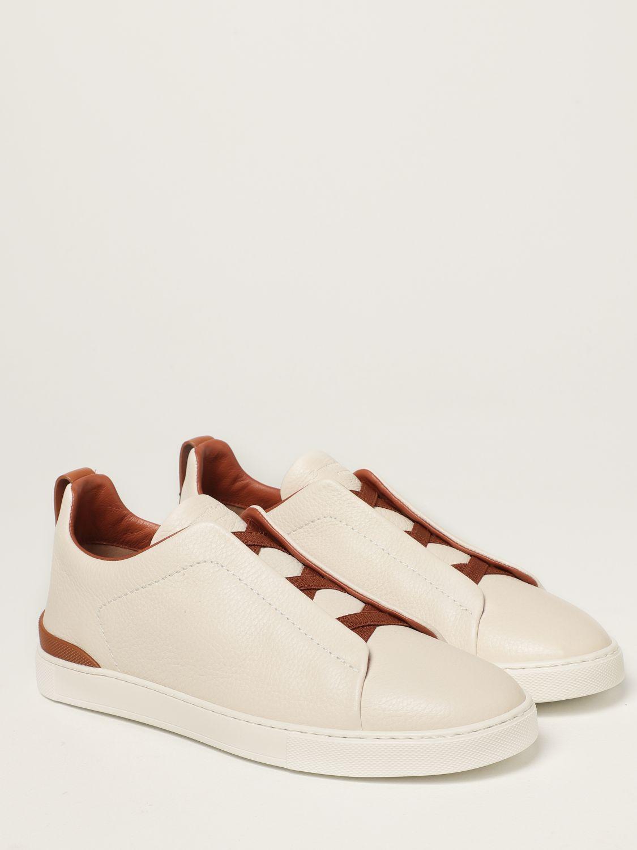 Zapatillas Ermenegildo Zegna: Zapatos hombre Ermenegildo Zegna blanco 2