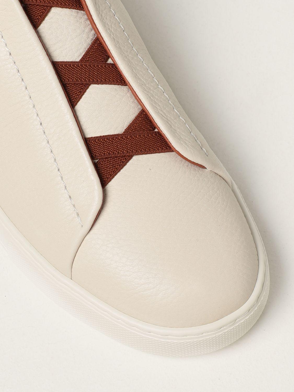 Zapatillas Ermenegildo Zegna: Zapatos hombre Ermenegildo Zegna blanco 4