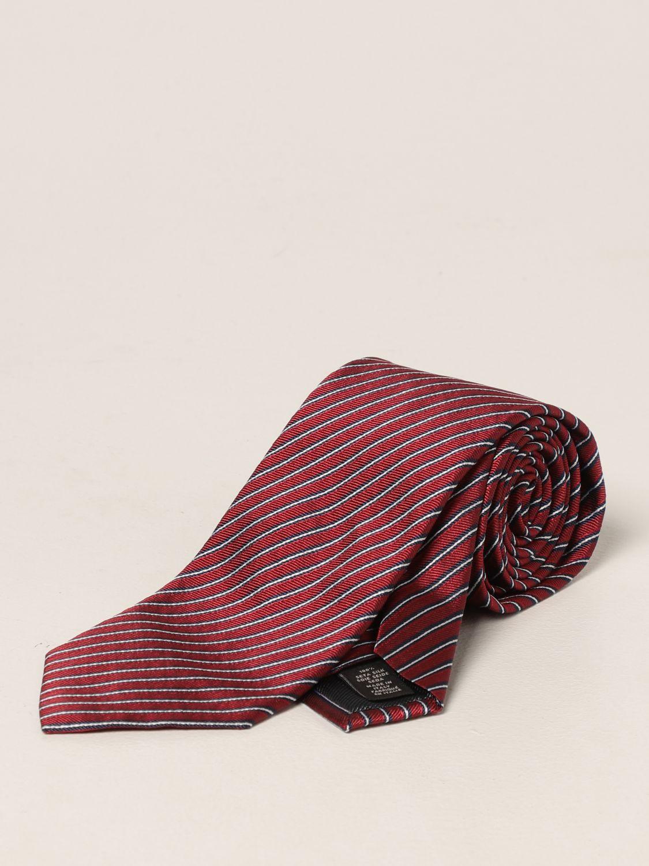 Cravatta Ermenegildo Zegna: Cravatta Ermenegildo Zegna in seta a righe rosso 1