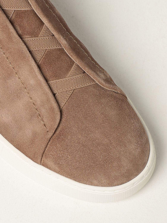 Zapatillas Ermenegildo Zegna: Zapatos hombre Ermenegildo Zegna beige 4