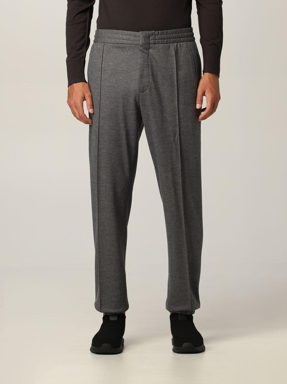 Pantalone Ermenegildo Zegna: Pantalone jogging Ermenegildo Zegna in jersey lana grigio 1