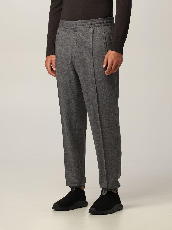Pantalone Ermenegildo Zegna: Pantalone jogging Ermenegildo Zegna in jersey lana grigio 3