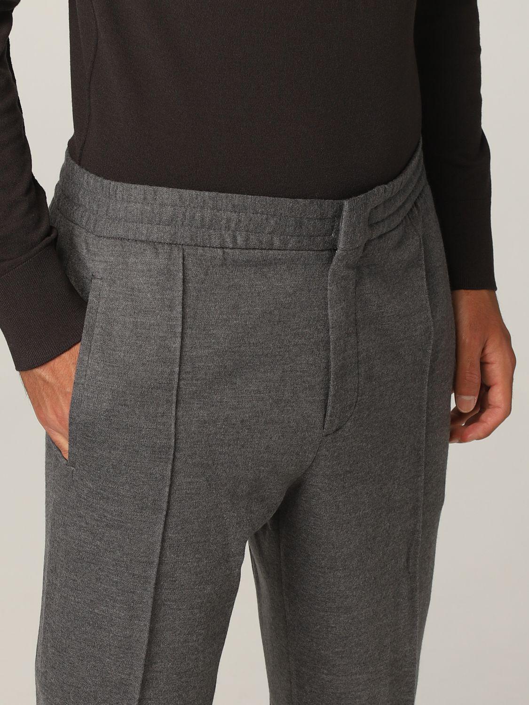 Pantalone Ermenegildo Zegna: Pantalone jogging Ermenegildo Zegna in jersey lana grigio 4