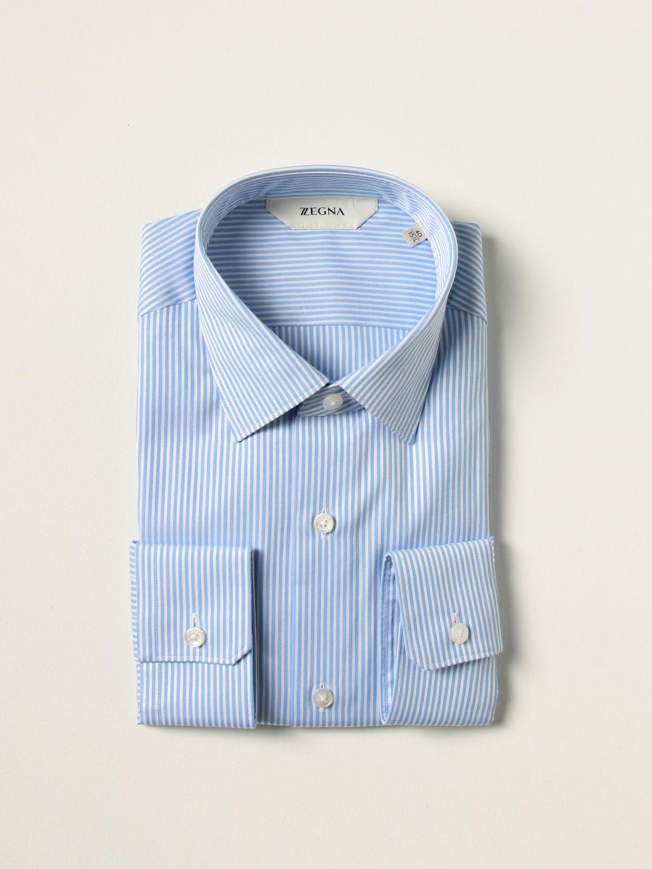 Camisa Z Zegna: Camisa hombre Z Zegna azul claro 1