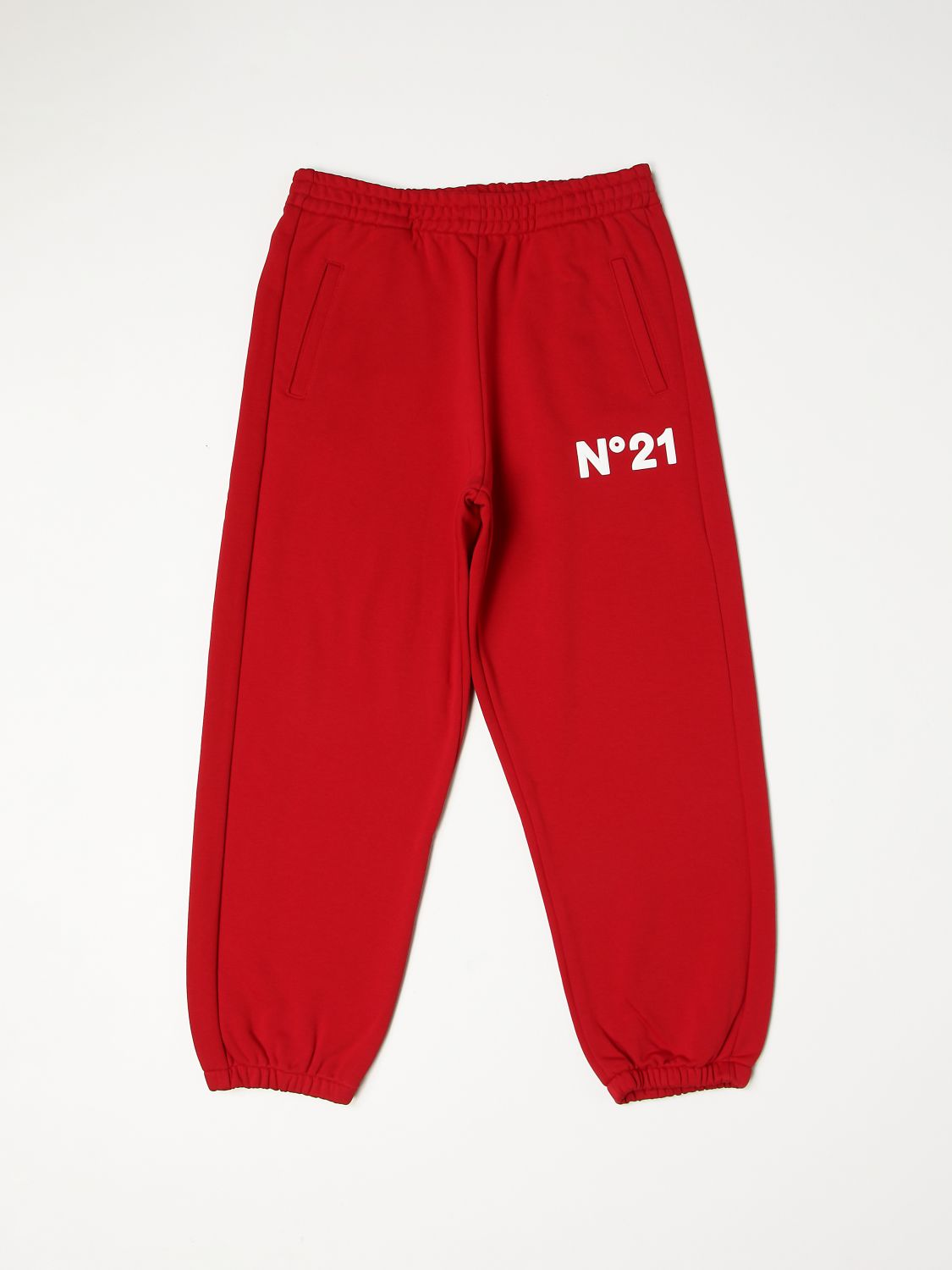 Trousers N° 21: N ° 21 jogging trousers with rubberized logo red 1