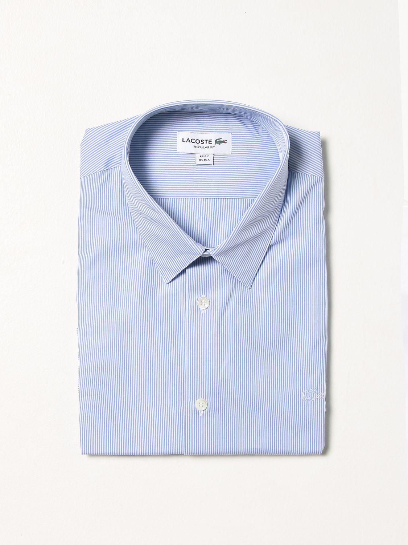 Camisa Lacoste: Camisa hombre Lacoste azul claro 1