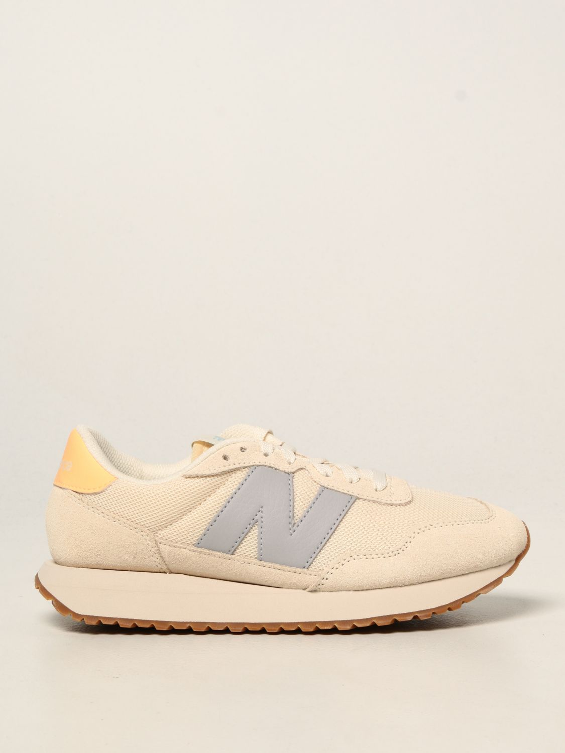 Sneakers New Balance: 237 suede and mesh trainers with big n yellow cream 1