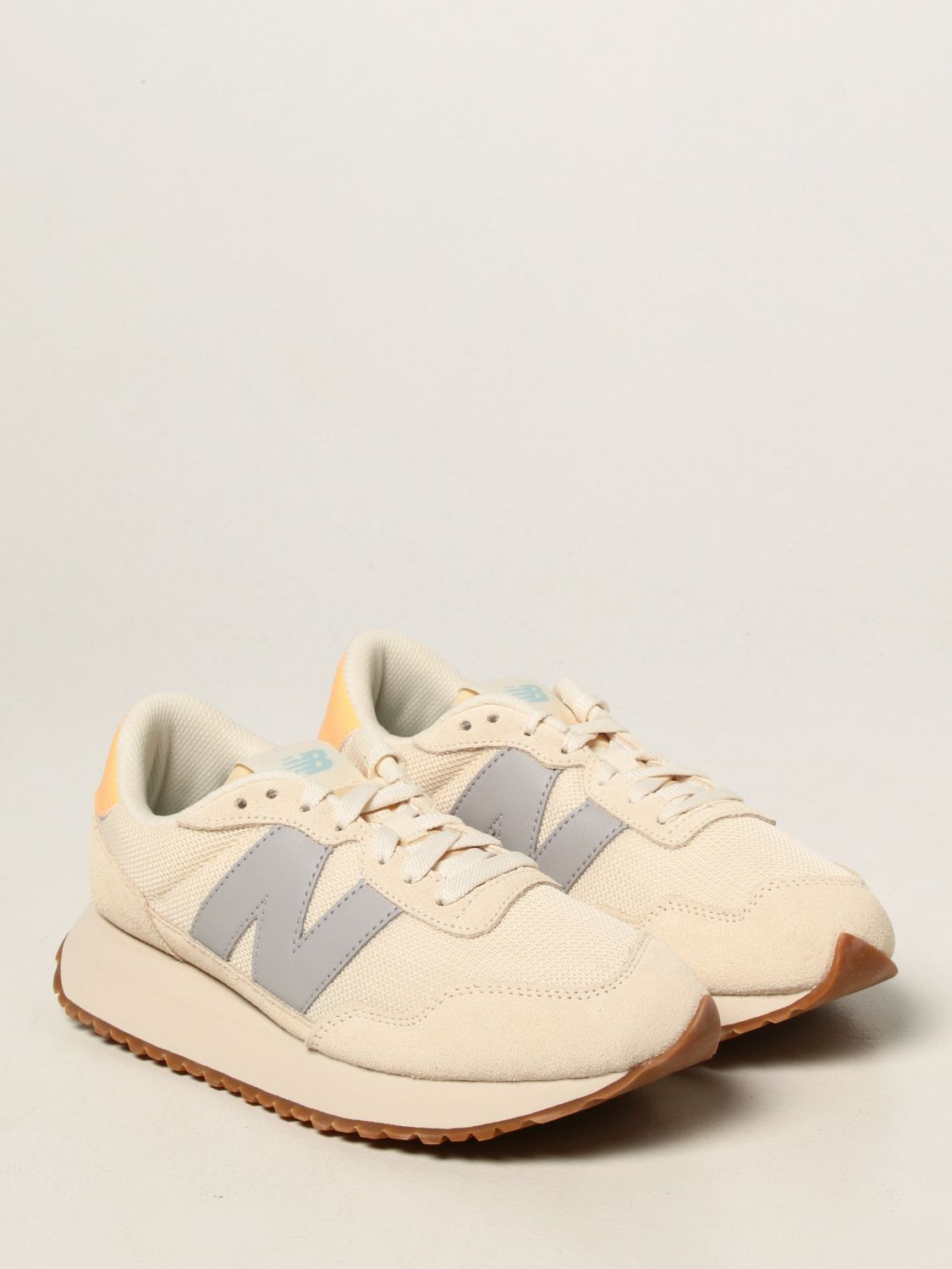 Sneakers New Balance: 237 suede and mesh trainers with big n yellow cream 2